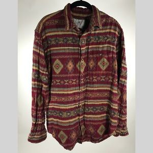 Territory Ahead tapestry shirt men's sz med button